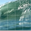 Waves Picture Wall Shower Mural Tiles Bathroom Ideas Remodeling