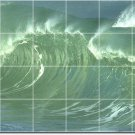 Waves Picture Tile Wall Kitchen Murals Interior Remodeling Idea