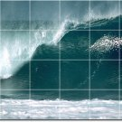 Waves Image Living Wall Mural Tiles Room Design House Renovation