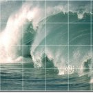 Waves Photo Living Wall Tiles Room Mural Design Renovation House