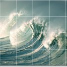 Waves Image Mural Room Wall Mural Tiles Modern Interior Decorate