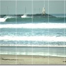 Waves Photo Mural Room Tiles Mural Wall Decorate Interior Modern
