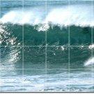 Waves Photo Tiles Mural Wall Mural Room Interior Idea Decorating