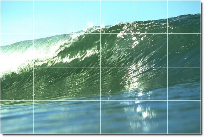 Waves Image Wall Murals Living Wall Room House Remodeling Design