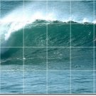 Waves Picture Murals Kitchen Tile Wall Idea Remodeling Interior