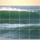 Waves Picture Room Tile Wall Dining Idea Commercial Construction