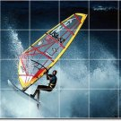 Waves Picture Tile Dining Room Wall Mural Decor Modern Interior