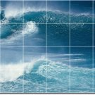 Waves Photo Room Wall Mural Dining Tile Interior Modern Renovate