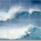 Waves Picture Wall Wall Backsplash Murals Idea House Remodeling