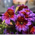 Flowers Image Wall Tiles Backsplash Kitchen Idea Home Renovation