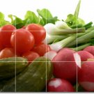 Fruits Vegetables Picture Shower Tiles Wall Mural Remodeling