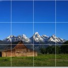 Mountains Image Mural Backsplash Tile Contemporary Construction