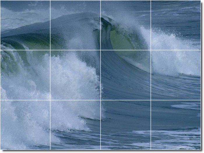 Waves Image Dining Room Tiles Floor Commercial Construction Idea