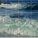 Waves Photo Backsplash Mural Tile Idea Decorate House Remodeling