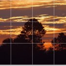 Sunsets Picture Wall Bathroom Tile Shower Interior Decor Modern