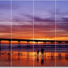 Sunsets Image Room Dining Wall Tile Murals House Remodeling Idea