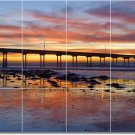 Sunsets Photo Room Dining Wall Murals Tile House Idea Remodeling
