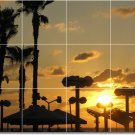 Sunsets Picture Mural Tile Dining Room Modern Interior Renovate