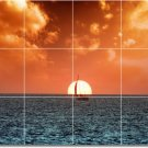 Sunsets Image Wall Bedroom Tiles Mural Home Renovate Traditional