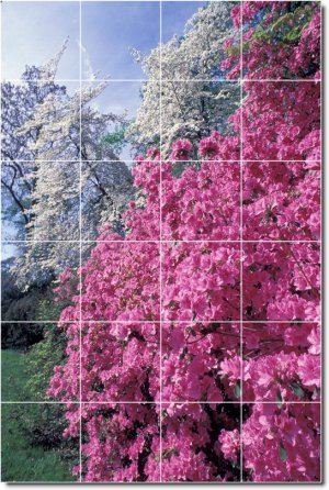 Flowers Image Room Wall Tiles Living Mural Renovation Idea House