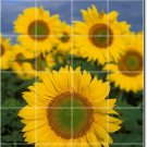 Flowers Picture Mural Tile Kitchen Residential Renovations Idea