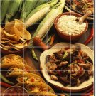 Food Image Living Tile Mural Room Construction Traditional House