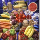 Fruits Vegetables Image Shower Tiles Renovation Contemporary Home