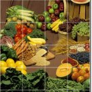 Fruits Vegetables Picture Murals Bedroom Tile Wall Home Art