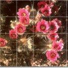 Flowers Photo Living Tile Mural Room Modern Interior Renovations