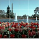 Flowers Image Room Living Mural Tile Modern Renovations Interior