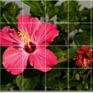 Flowers Photo Room Living Tile Mural Interior Modern Renovations