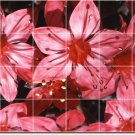 Flowers Image Wall Dining Tile Room House Remodeling Design Idea