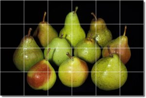 Fruits Vegetables Image Backsplash Mural Tiles Commercial Design
