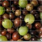 Fruits Vegetables Image Backsplash Tiles Mural Design Commercial