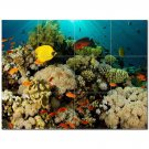 Coral Fish Underwater Ceramic Tile Mural Kitchen Backsplash Bathroom Shower 402991