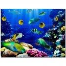 Coral Fish Underwater Ceramic Tile Mural Kitchen Backsplash Bathroom Shower 403007