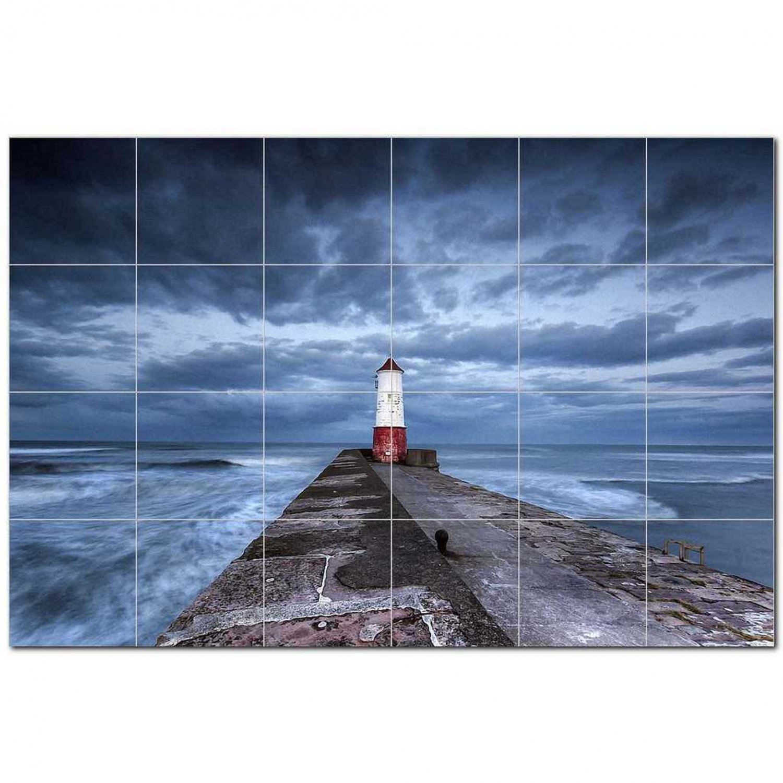 Lighthouse Picture Ceramic Tile Mural Kitchen Backsplash Bathroom Shower 405477