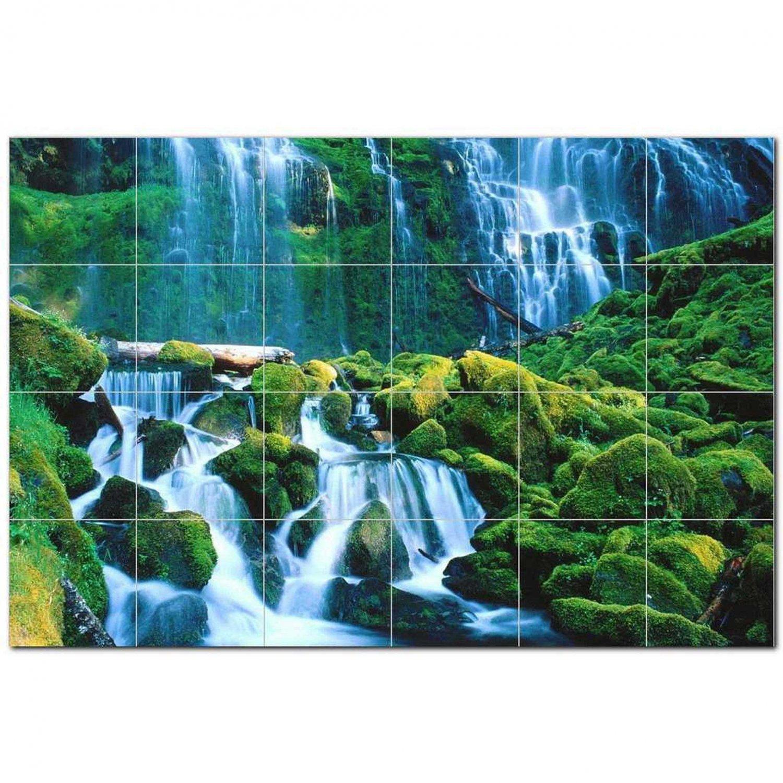 Waterfalls Ceramic Tile Mural Kitchen Backsplash Bathroom Shower 401754