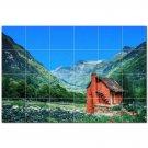 Mountain Ceramic Tile Mural Kitchen Backsplash Bathroom Shower 401165
