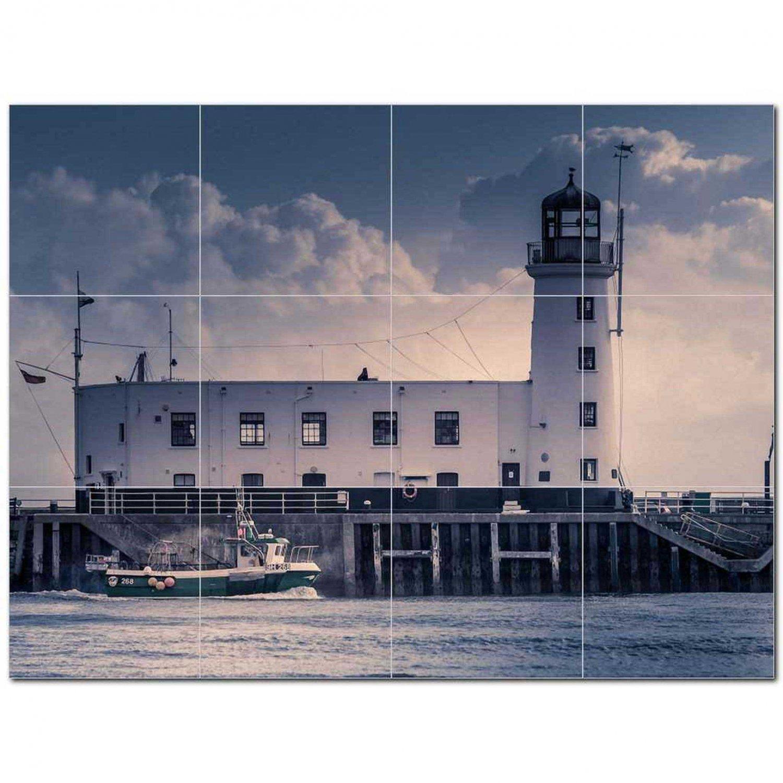 Lighthouse Ceramic Tile Mural Kitchen Backsplash Bathroom Shower 400862