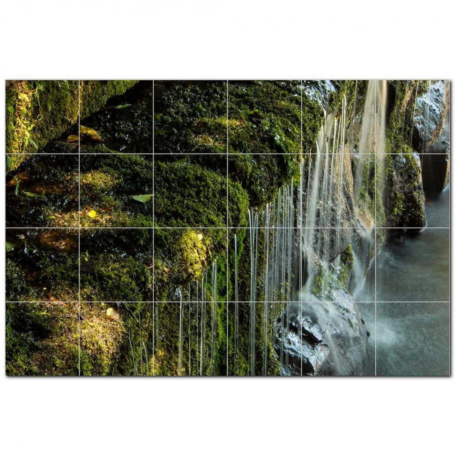 Waterfalls Ceramic Tile Mural Kitchen Backsplash Bathroom Shower 401858