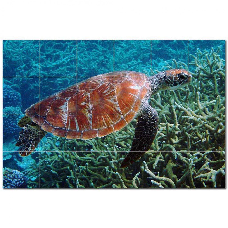 Turtle Ceramic Tile Mural Kitchen Backsplash Bathroom Shower 402981