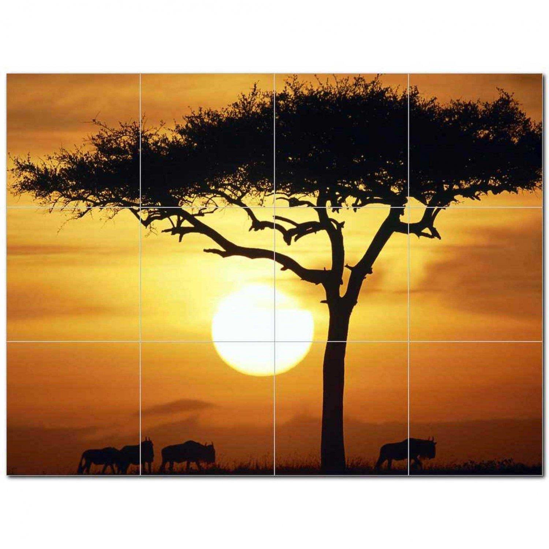 Sunset Photo Ceramic Tile Mural Kitchen Backsplash Bathroom Shower 405883