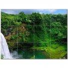 Waterfall Picture Ceramic Tile Mural Kitchen Backsplash Bathroom Shower 406157