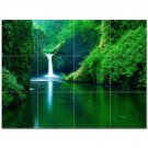 Waterfall Picture Ceramic Tile Mural Kitchen Backsplash Bathroom Shower 406188