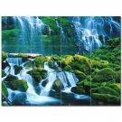Waterfall Picture Ceramic Tile Mural Kitchen Backsplash Bathroom Shower 406191
