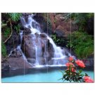 Waterfall Picture Ceramic Tile Mural Kitchen Backsplash Bathroom Shower 406197