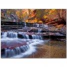 Waterfall Picture Ceramic Tile Mural Kitchen Backsplash Bathroom Shower 406207