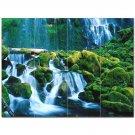 Waterfall Picture Ceramic Tile Mural Kitchen Backsplash Bathroom Shower 406209
