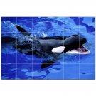 Whale Ceramic Tile Mural Kitchen Backsplash Bathroom Shower 403063